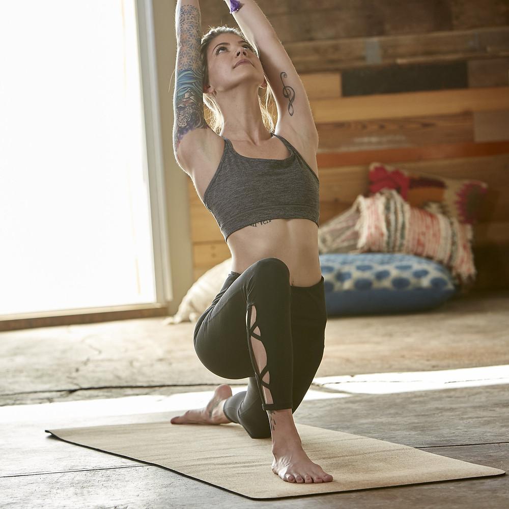 yoga tapete cortiça