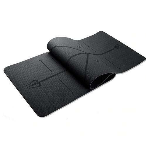 Yoga Mat Alinhamento TPE Black