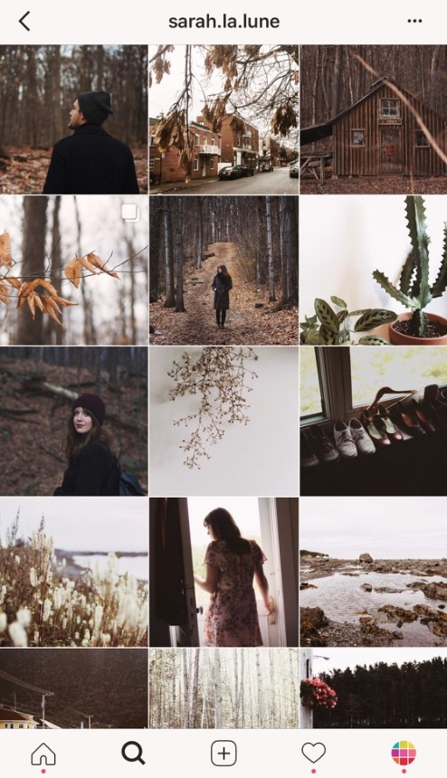 Instagram Grid of the great outdoors