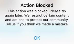 temporarily blocked on instagram