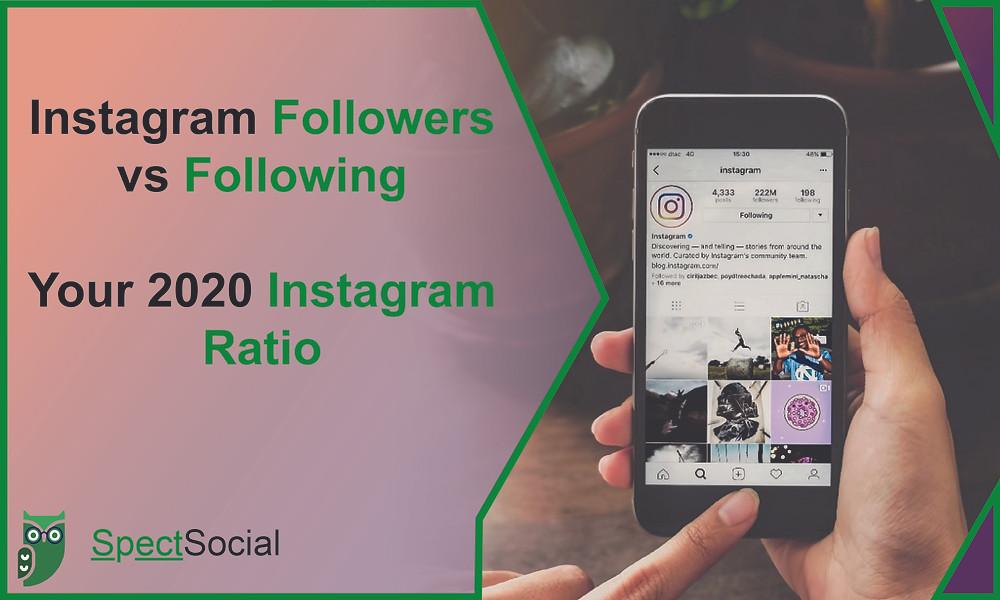 Intagram Followers vs Following