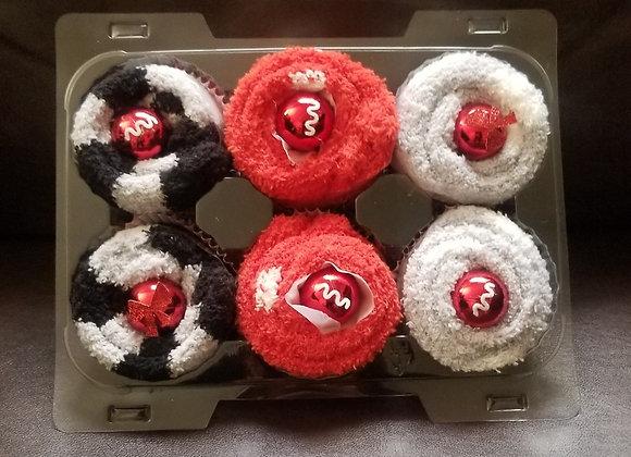 Fuzzy Footie Cupcakes: Fox & Polka Dots