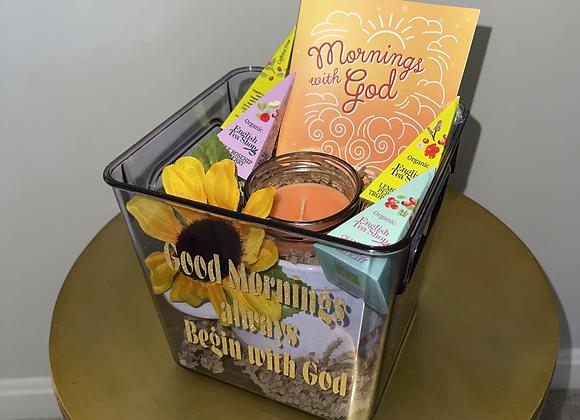 Mornings With God Devotional Basket
