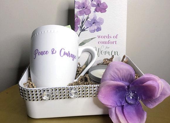 Peace, Courage & Tea Basket