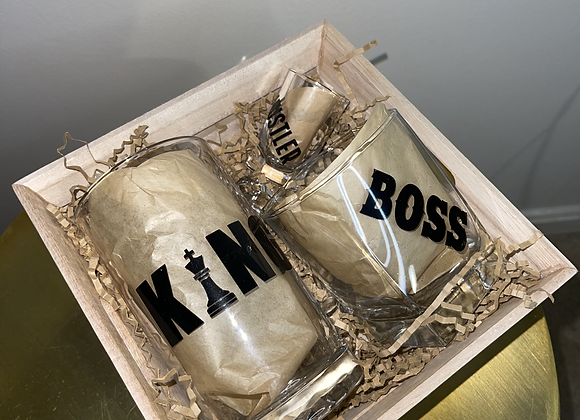 King, Boss, Hustler Drinking Basket