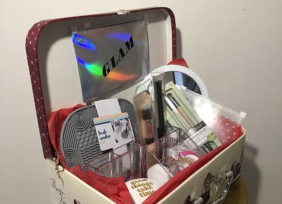 Makeup Glam Basket + Vintage Box