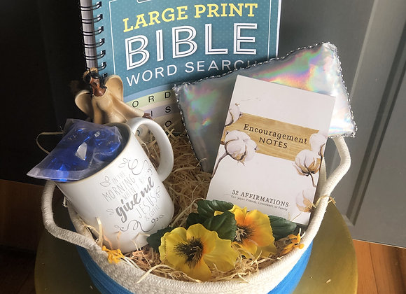 Faith Basket: Blue