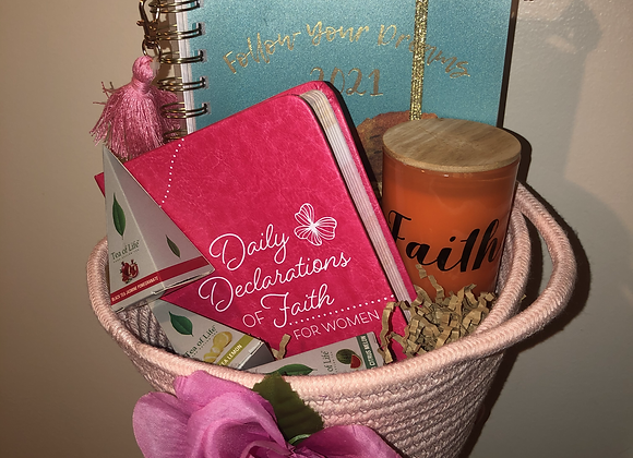 Daily Devotional & Journal Basket