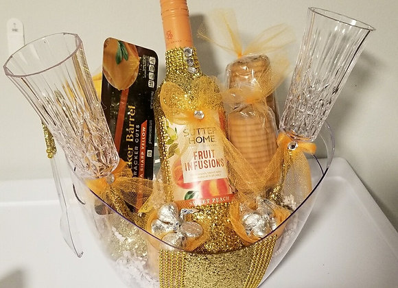 Wine, Cheese, Crackers Basket