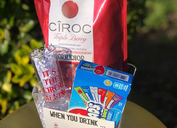 Infused Popcorn Basket: Cîroc