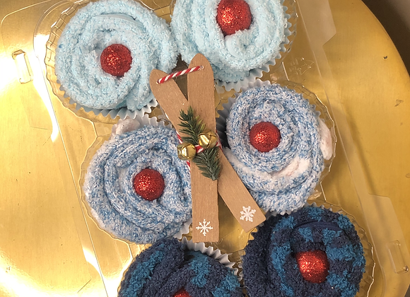 Fuzzy Footies Cupcakes: Blueberry