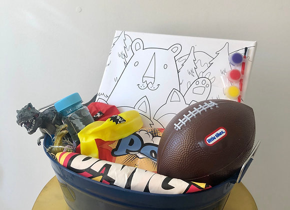 Paint Activity Basket: Football