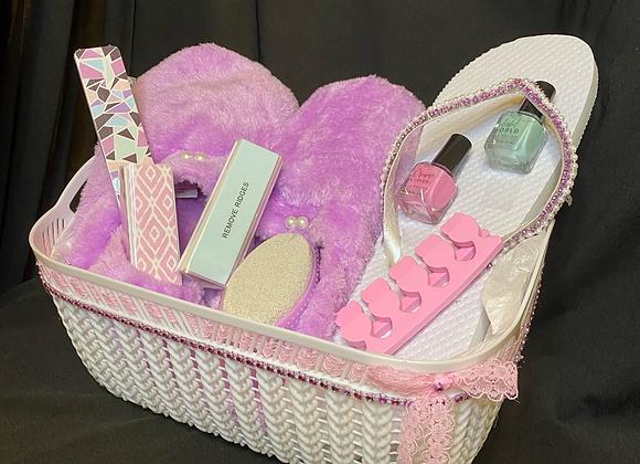Happy Feet Basket: Purple