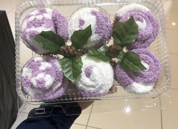 Sock Cupcakes: Grape