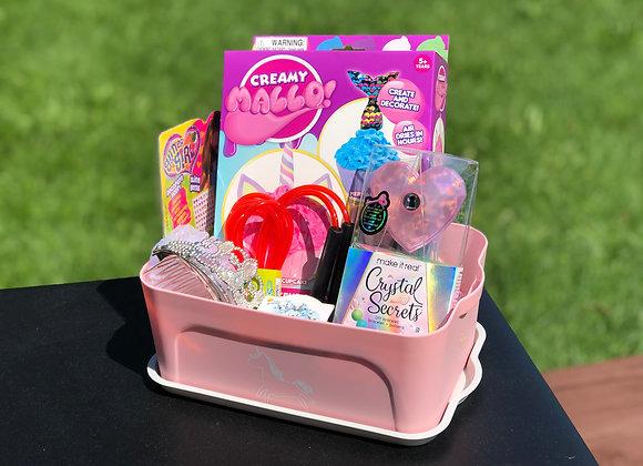 Activity Basket for Girls (Bracelets & Tiara)