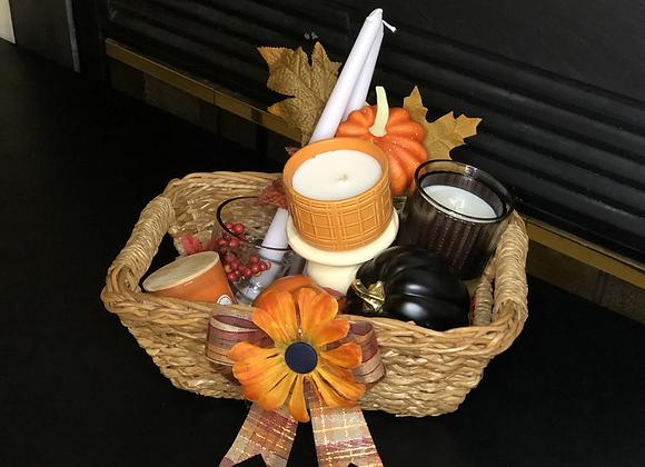 Orange Candles Basket