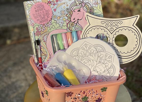 Paint & Coloring Basket