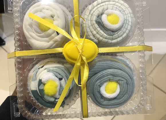 Baby Boy Onesie Cupcakes: Lemon