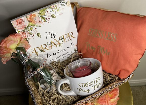 Stress Less, Pray More Prayer: Prayer Journal Basket