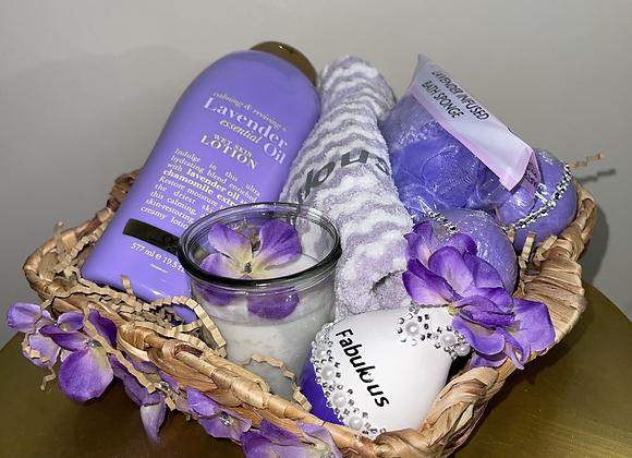 Lavender Self Care Basket