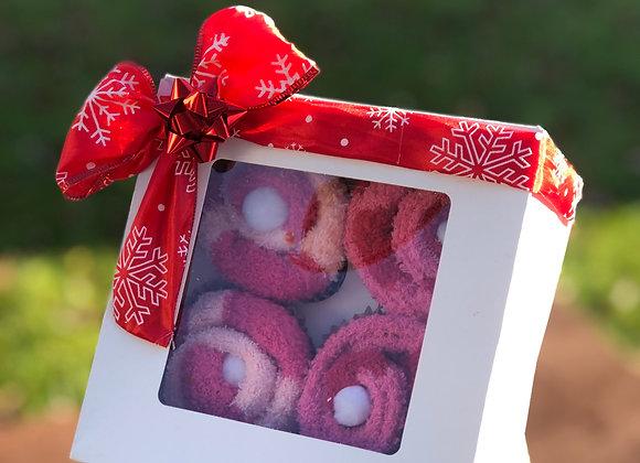 Fuzzy Sock Cupcakes: 4pck