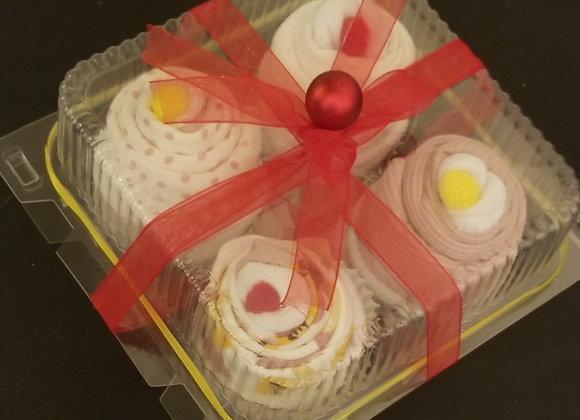 Baby Onesie Cupcakes: Lemon Cherry
