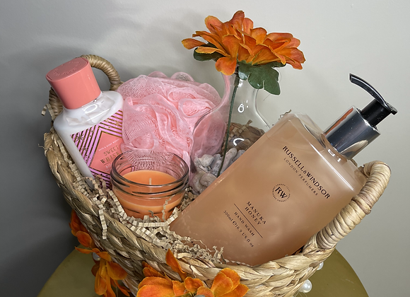 Hand Care & Candle Basket