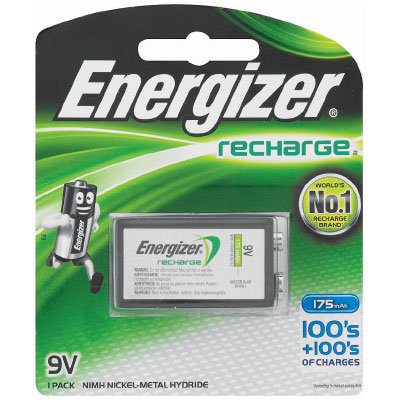 Energizer NH22NBP NiMH 9v 175mAh Battery Card 1