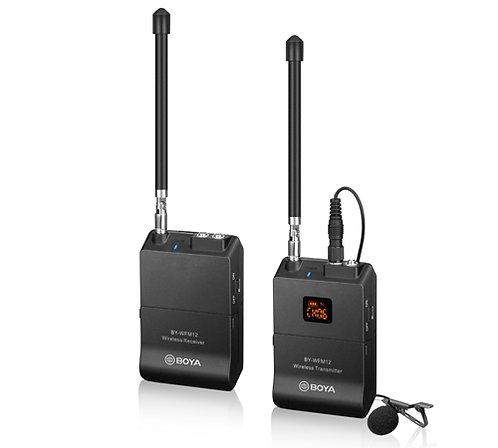 Boya BY-WFM12 VHF Wireless Lavalier / Lapel Microphone System