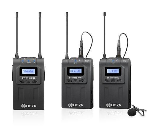 Boya BY-WM8 Pro-K2 UHF Dual-Channel Wireless Microphone System