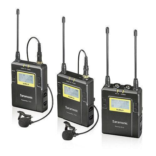 Saramonic UwMIC9 RX9+TX9+TX9 Dual UHF Wireless Microphone System