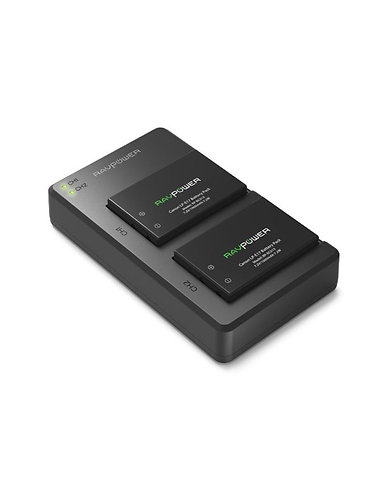 RAVPower 1000mAh Rechargeable Battery and Charger Set for Canon LP-E17