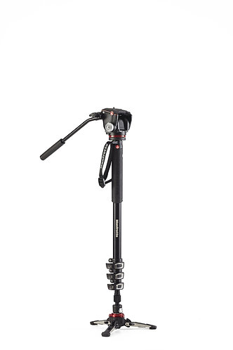 Manfrotto XPRO Alu 4-Section Fluid Video Monopod+ with Fluidtech Base & 2 way Hd
