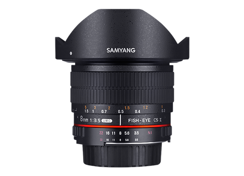 Samyang 8mm F3.5 UMC Fish-eye CS II Lens AE Chip for Nikon (HD)