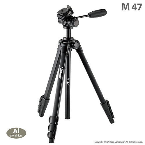 Velbon M47 Aluminum Photo Tripod with 2-Way Fluid Head