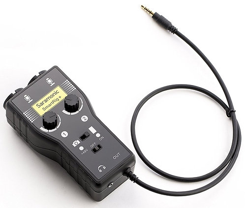 Saramonic SmartRig+ 2-Channel XLR/3.5mm Microphone Audio Mixer