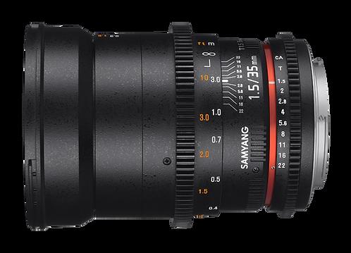 Samyang 35mm T1.5 VDSLR AS UMC II Lens for Canon