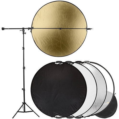 Impact 5-In-1 Collapsible Circular Reflector Kit 110mm