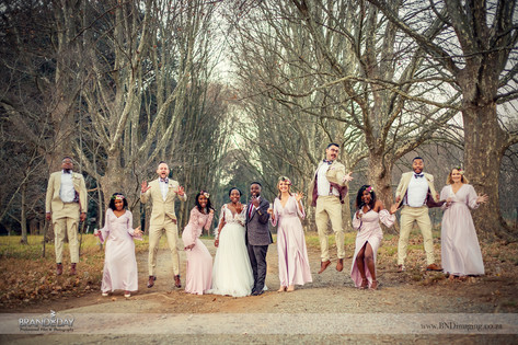 Bridal Party Photos with professional durban based wedding photographer