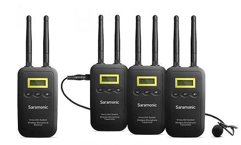 Saramonic VmicLink5 RX+TX+TX+TX Three-Channel 5.8Ghz Wireless Lavalier System