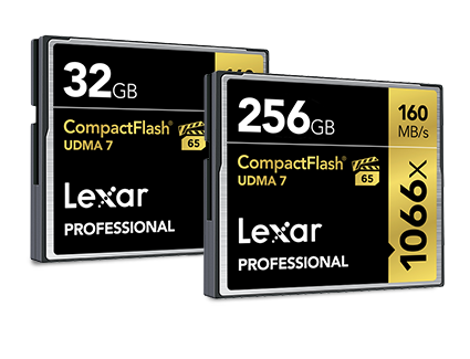 Lexar ®Professional 1066x CompactFlash® CF Card | 32GB - 256GB