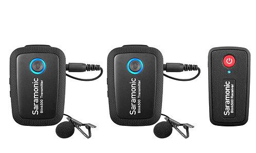 Saramonic Blink500 B2 (TX+TX+RX) Ultracompact 2.4GHz Dual-Channel Wireless Micro
