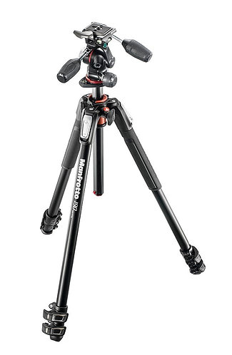 Manfrotto MK190XPRO3-3W New 190 Alu 3-Section Kit with XPRO 3-Way Head