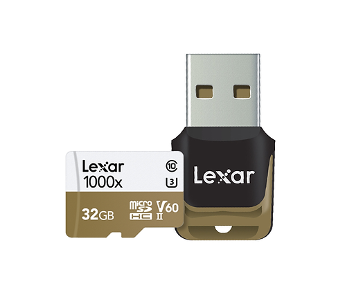 Lexar ® Professional 1000x microSDHC™/microSDXC™ UHS-II cards with USB Adaptor