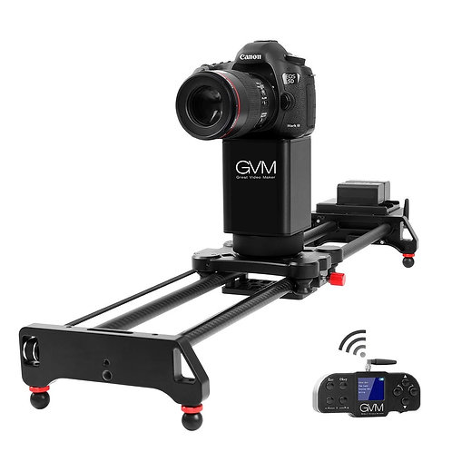 GVM 2D 2-Axis Wireless Carbon Fiber Motorized Slider with Bluetooth Remote  81cm