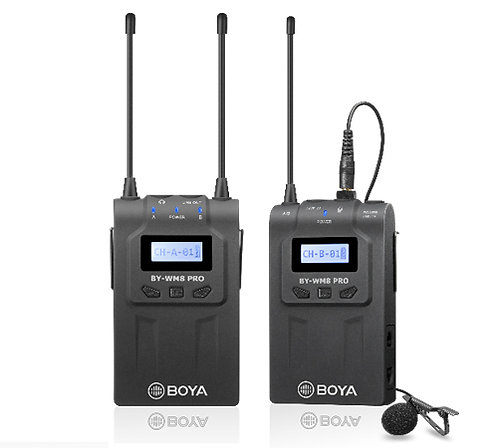 Boya BY-WM8 Pro-K1 UHF Dual-Channel Wireless Microphone System