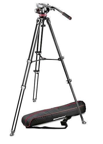 Manfrotto MVK502AM-1 Pro Video Aluminium Kit MVH502A + MVT502AM Tripod + Padded