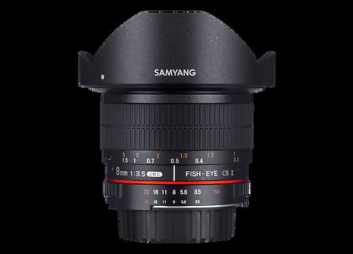 Samyang 8mm F3.5 UMC Fish-eye CS II Lens for Canon (HD)
