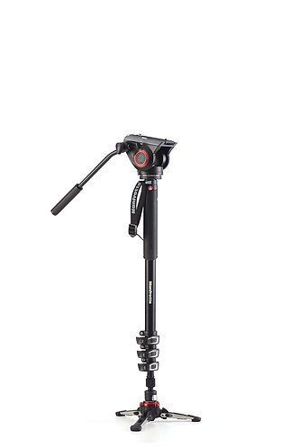 Manfrotto XPRO Alu 4-Section Fluid Video Monopod+ with Fluidtech Base & 2-Way Hd