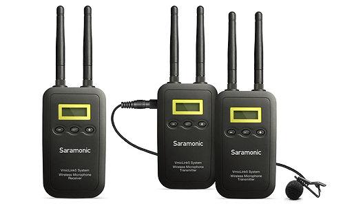 Saramonic VmicLink5 RX+TX+TX Two-Channel 5.8Ghz Wireless Lavalier System